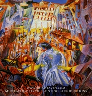 Street Noises Invade the House by Umberto Boccioni