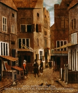 Street Scene painting reproduction, Jacobus Vrel