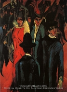 Street Scene in Berlin painting reproduction, Ernst Ludwig Kirchner
