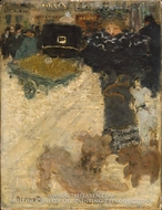 Street Scene, Place Clichy by Pierre Bonnard