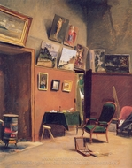Studio in the Rue de Furstenberg painting reproduction, Jean Frederic Bazille