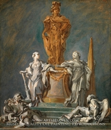 Study for a Monument to a Princely Figure by Francois Boucher