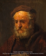 Study Head of an Old Man by Rembrandt Van Rijn