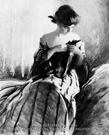 Study in Black and Green painting reproduction, John White Alexander