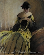 Study in Black and Green (Oil Sketch) by John White Alexander