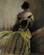Study in Black and Green (Oil Sketch) painting reproduction, John White Alexander