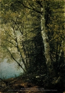 Study of Beeches painting reproduction, John Frederick Kensett