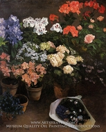 Study of Flowers by Jean Frederic Bazille