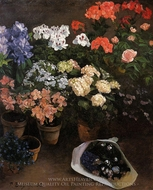 Study of Flowers painting reproduction, Jean Frederic Bazille