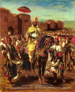Sultan of Morocco by Eugene Delacroix