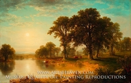 Summer Afternoon painting reproduction, Asher Brown Durand