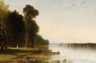 Summer Day on Conesus Lake painting reproduction, John Frederick Kensett