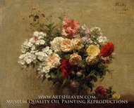 Summer Flowers painting reproduction, Henri Fantin-Latour