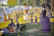 Sunday Afternoon on the Island of La Grande Jatte painting reproduction, Georges Seurat