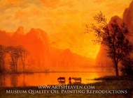 Sundown at Yosemite by Albert Bierstadt