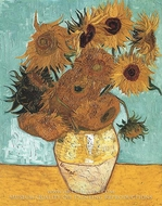 Sunflowers (12 in a vase) by Vincent Van Gogh