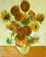 Sunflowers (14 in a vase) by Vincent Van Gogh