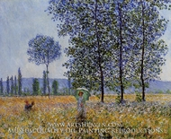 Sunlight Effect Under the Poplars by Claude Monet