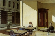 Sunlight in a Cafeteria painting reproduction, Edward Hopper