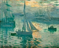 Sunrise (Marine) painting reproduction, Claude Monet