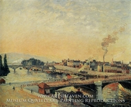 Sunrise, Rouen by Camille Pissarro