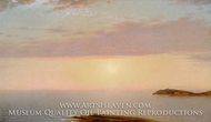 Sunset painting reproduction, John Frederick Kensett