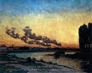 Sunset at Ivry painting reproduction, Armand Guillaumin