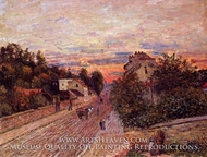 Sunset at Port-Marly painting reproduction, Alfred Sisley
