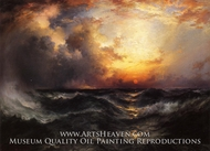 Sunset in Mid-Ocean by Thomas Moran