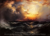 Sunset in Mid-Ocean painting reproduction, Thomas Moran