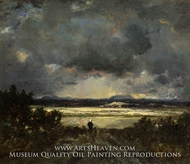 Sunset in the Auvergne by Theodore Rousseau