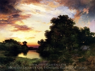 Sunset on Long Island painting reproduction, Thomas Moran