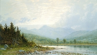 Sunset on Mount Chocorua, New Hampshire painting reproduction, William Trost Richards