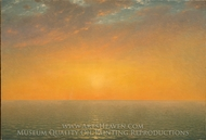 Sunset on the Sea painting reproduction, John Frederick Kensett