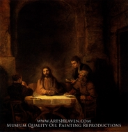 Supper at Emmaus by Rembrandt Van Rijn