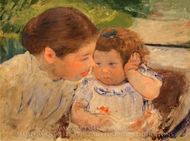 Susan Comforting the Baby painting reproduction, Mary Cassatt