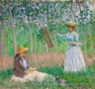 Suzanne Reading and Blanche Painting at Giverny by Claude Monet