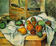 Table, Napkin, and Fruit painting reproduction, Paul Cezanne