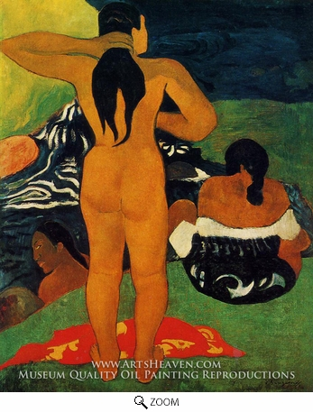Painting Reproduction of Tahitian Women Bathing, Paul Gauguin