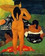 Tahitian Women Bathing painting reproduction, Paul Gauguin