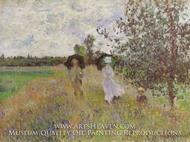 Taking a Walk Near Argenteuil by Claude Monet