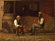 Talking It Over painting reproduction, Enoch Wood Perry