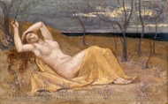Tamaris painting reproduction, Pierre Puvis De Chavannes