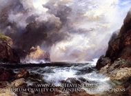 Tantallon Castle, North Berwick, Scotland by Thomas Moran