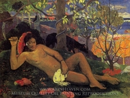 Te Arii Vahine (The King's Wife) painting reproduction, Paul Gauguin