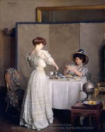 Tea Leaves painting reproduction, William McGregor Paxton