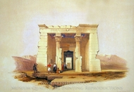 Temple of Dendour painting reproduction, David Roberts