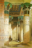 Temple of Isis painting reproduction, David Roberts