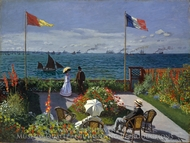 Terrace at Sainte-Adresse (Garden at Sainte-Adresse) painting reproduction, Claude Monet