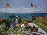 Terrace at Sainte-Adresse (Garden at Sainte-Adresse) by Claude Monet